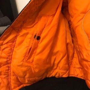 Jackets & Coats - Black and orange bomber. Large
